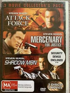 DVD: Attack Force + Mercenary For Justice + Shadow Man - 3 Movie Collectors Pack