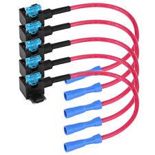 5Pcs Add-a-Circuit Fuse Tap-Micro Auto Car Mini Blade Piggy Back Fuse Holder 15A