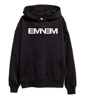 Eminem White Logo Hoodie Hip Hop Sweatshirt Kamikaze merch Stan Shady New Black