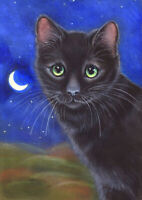 Three Cats Limited Edition Canvas Fine Art Print 0f Original Painting S Barratt