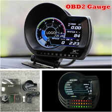 OBD2 Multi-functional Meter Gauge Boost Pressure AFR Water/Oil Temp Alarm System