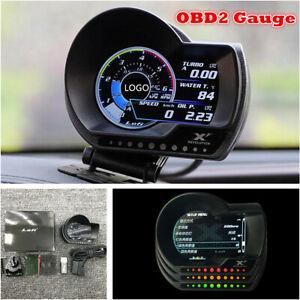OBD2 Multi-functional Meter Gauge Boost Pressure AFR Water/Oil Temp Alarm System