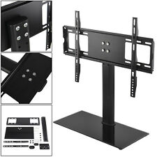 Universal Tabletop Glass Pedestal TV Stand LCD LED Plasma VESA Bracket 37-55""