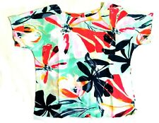 Marks & Spencer  abstract print linen top