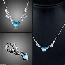Versilberte Modeschmuck-Halsketten & -Anhänger aus Kristall mit Zirkonia