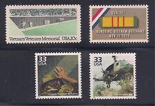 Vietnam War, Veterans, Memorial - Complete Set Of 4 U.S. Stamps - Mint Condition