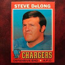 1971 Topps Set STEVE DELONG #92 SAN DIEGO CHARGERS - NM/MINT *HIGH GRADE*