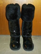 UGG AUSTRALIA Over the Knee BAILEY BUTTON Boots Size 7 BLACK -EUC!!