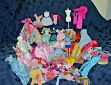 Large Lot of Barbie's Accessories & Clothes Lot of 65 Items.