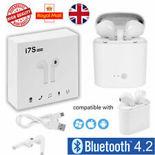 2019 Wireless Ear Pods Headphone Pair 2in1 White Bluetooth Earphones Earbuds Mic