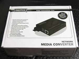 DIGITUS DN-82021-1 RJ-45 auf SC Duplex Fast Ethernet Netzwerk Medienkonverter