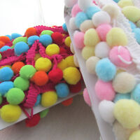 Large Multi coloured pompom trim - 6mm - choice of colours for sewing & craft