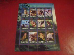 RWANDA - 2009 OWLS - MINISHEET - UNMOUNTED USED MINIATURE SOUVENIR SHEET