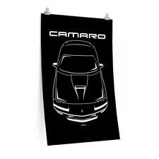 Camaro Fbody Art Chevrolet Camaro 4th Generation Poster fbody Camaro poster Silver