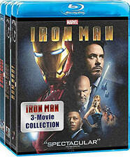 Iron Man: 3 Movie Collection (Blu-ray Disc, 2015, 3-Disc Set) NEW