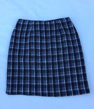 Tailor Skirt Women's Skirt Blue Black White Size 2 EUC Free Shipping