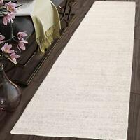 TAPISO Long Hallway Carpet Runner Rug Cream Plain Pattern For Stairs Soft Rugs