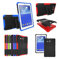 Tough Shockproof Hard Rubber Case for Samsung Galaxy Tab 3 /E Lite 7.0 T113 T110