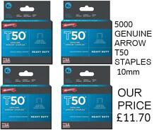 Arrow T50 Staples 10mm (3/8in) Pack 5000 (4 x 1250)