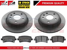 FOR VAUXHALL INSIGNIA 1.4 1.8 2.0 CDTi 2008-2014 REAR BRAKE DISCS PADS SET 292mm