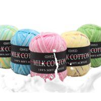 Tricotage Crochet Mixtes De Travail 50g Dk Lait Doux Coton Fil De Laine Colorée