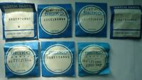 SEIKO Japan Genuine Crystals for Wrist Watches NOS Yellow Reflector Ring Lot# 5