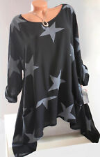 ITALY Tunika,Kleid,Longshirt,Zipfel,Oversize,Blumen Muster,große Gr.50,52,54Neu