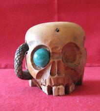 Demi crâne photophore bougeoir gothique