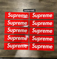 Supreme New York Red Bogo Sticker Lot of 10 Authentic NEW. IN HAND