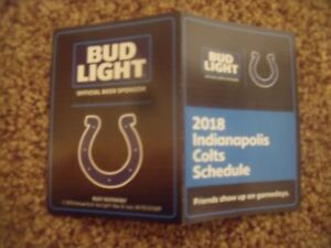 2018 Indianapolis Colts (NFL) Bud Light Beer cover football pocket schedule