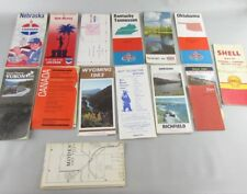 LOT OF 14 RARE 1940 - 1980 HIGHWAY ROAD MAP CONVENIENCE/ GAS STATION