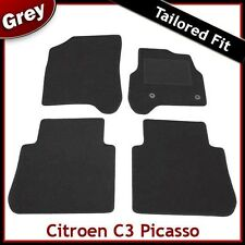 Citroen C3 Picasso (2009 2010 2011 2012) Tailored Fitted Carpet Car Mats GREY