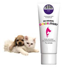 Dog Hair Dye Hair Bleach Hair Coloring Stylish Pet Violet 50ml Professional