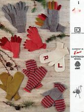#117 Boys & Girls Gloves and Mittens DK Vintage Knitting Pattern