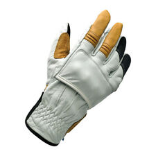 Biltwell Belden Motorcycle Gloves, Leather, Grey, SIZE XS Ce Approved