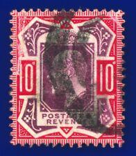1906 SG254b 10d Dull Purple & Carmine CSP M43(1) Fair Used CV-FU £75 atzz