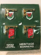 Department 56 Heritage Village Collection Set Of 4 Banners #5526-3