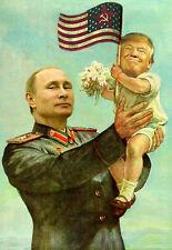 Le président Trump Poutine Russie la propagande soviétique style Poster Print