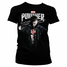 Marvel's The Punisher Official Licensed Ladies Fitted T-Shirt (Black)