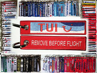 Keyring TUI AIRLINES new logo Remove Before Flight tag keychain Pilot Crew