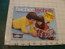 Orig Vintage fold-out POSTER/CATALOG --1973-74 FISCHER TECHNIK so cool