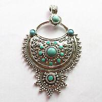 SMA102418 Beautiful Tibetan silver & Turquoise Pendant Bead