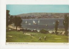 Swanage Bay From Miniature Golf Course 1961 Postcard 482a