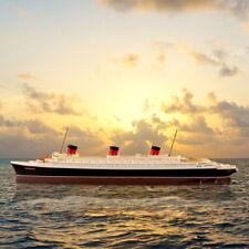 New 1/1250 ATLAS Normandie Transatlantic Vintage Boat Cruise Ship Model Handmade