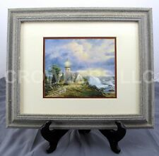 """""""Light in the Storm"""" by Thomas Kinkade Matted & Framed Lighthouse Print 17""""x14"""""""