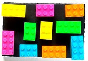 BRICK BRIGHTS Push Pin Set - 10pc Handmade Home Decor Memo Board Fun