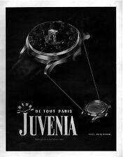 ▬► PUBLICITE ADVERTISING AD JUVENIA WATCH MONTRE 1948