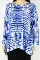 Nally & Millie Womens Blouse Classic Blue Size Small PS Petite Knit $78- 212