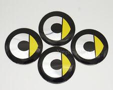 4Pcs 56.5mm Car Wheel Center Hub Cap Badge Emblem Sticker Fits Smart ForTwo