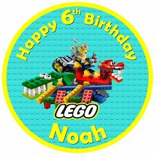 """7.5"""" Lego Edible Personalised Cake Topper"""